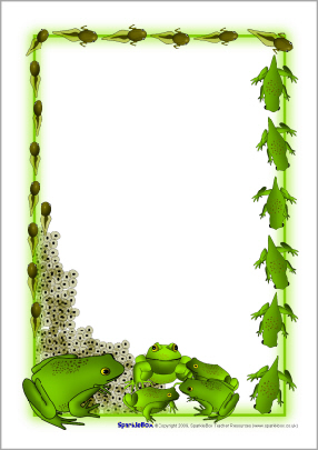 Frog Clipart Border.