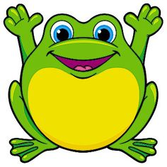 Yellow frog clipart.