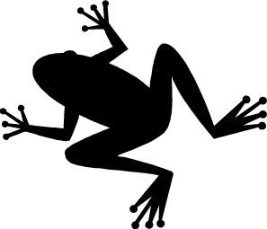 Frog Clip Art Black And White.