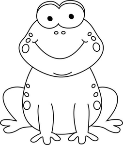 Frog Clipart Black And White Free.