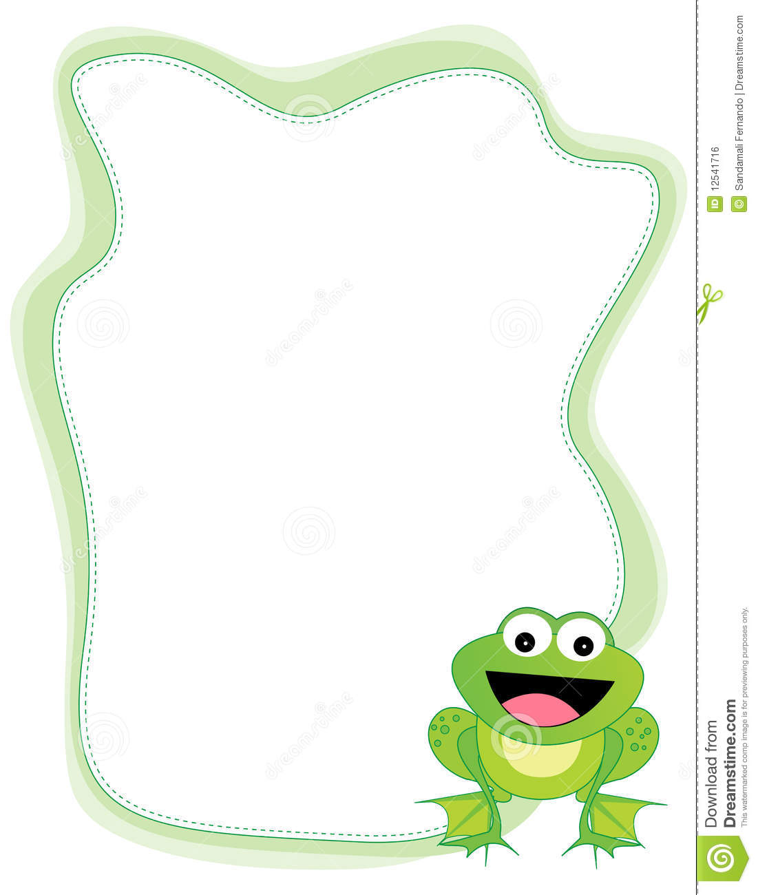 Frog Border Royalty Free Stock Image.