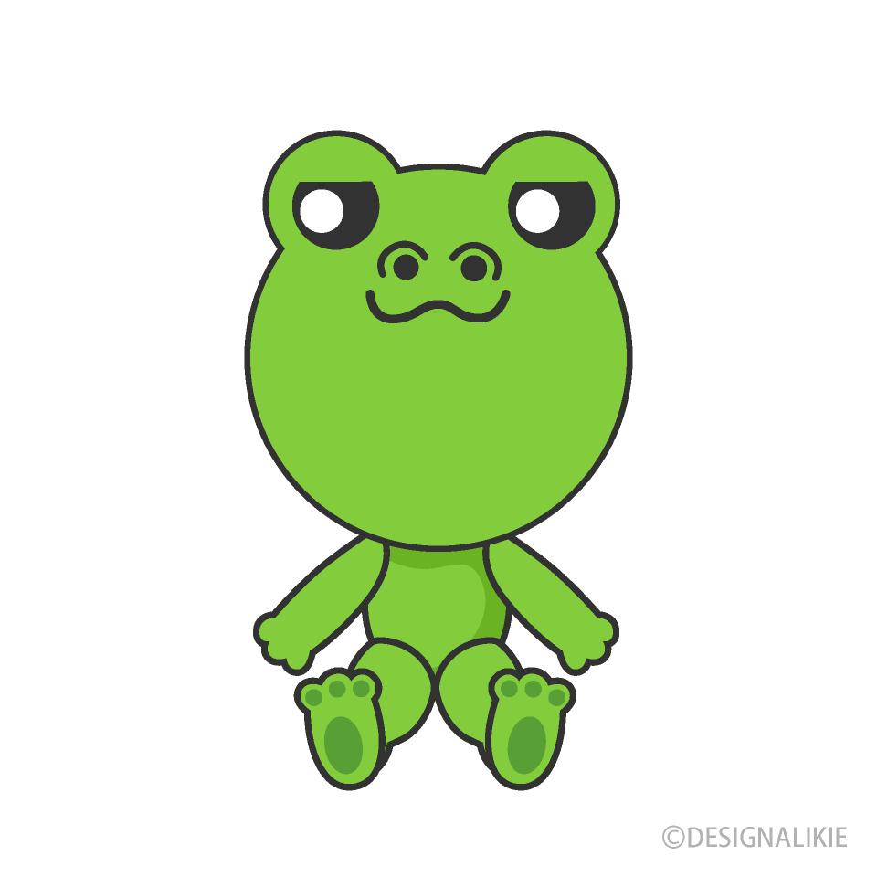 Free Stuffed Frog Clipart Image|Illustoon.