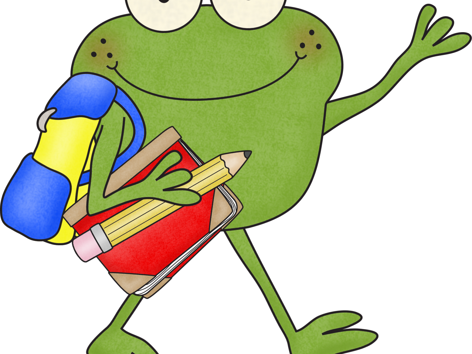 Frogs clipart school, Frogs school Transparent FREE for.