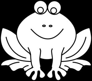 Frog Outline Clip Art at Clker.com.