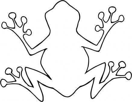 Outline Of Cartoon Frog.