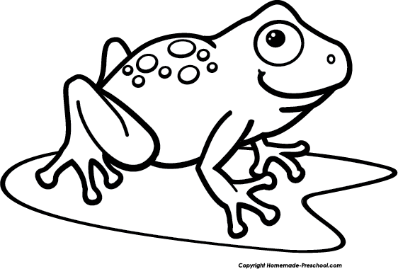 Frog clipart image frog on a lily pad in a pond image #1733.