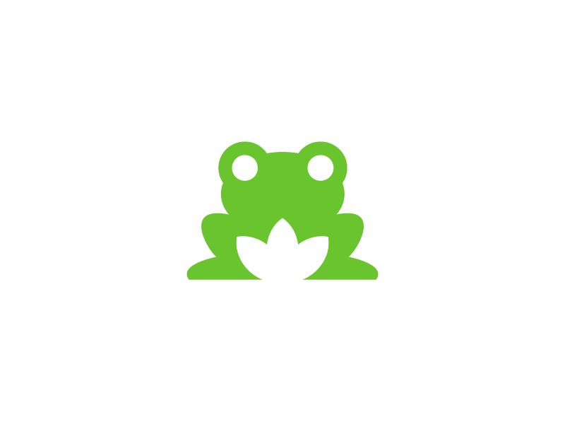 frog / logo design by Deividas Bielskis on Dribbble.