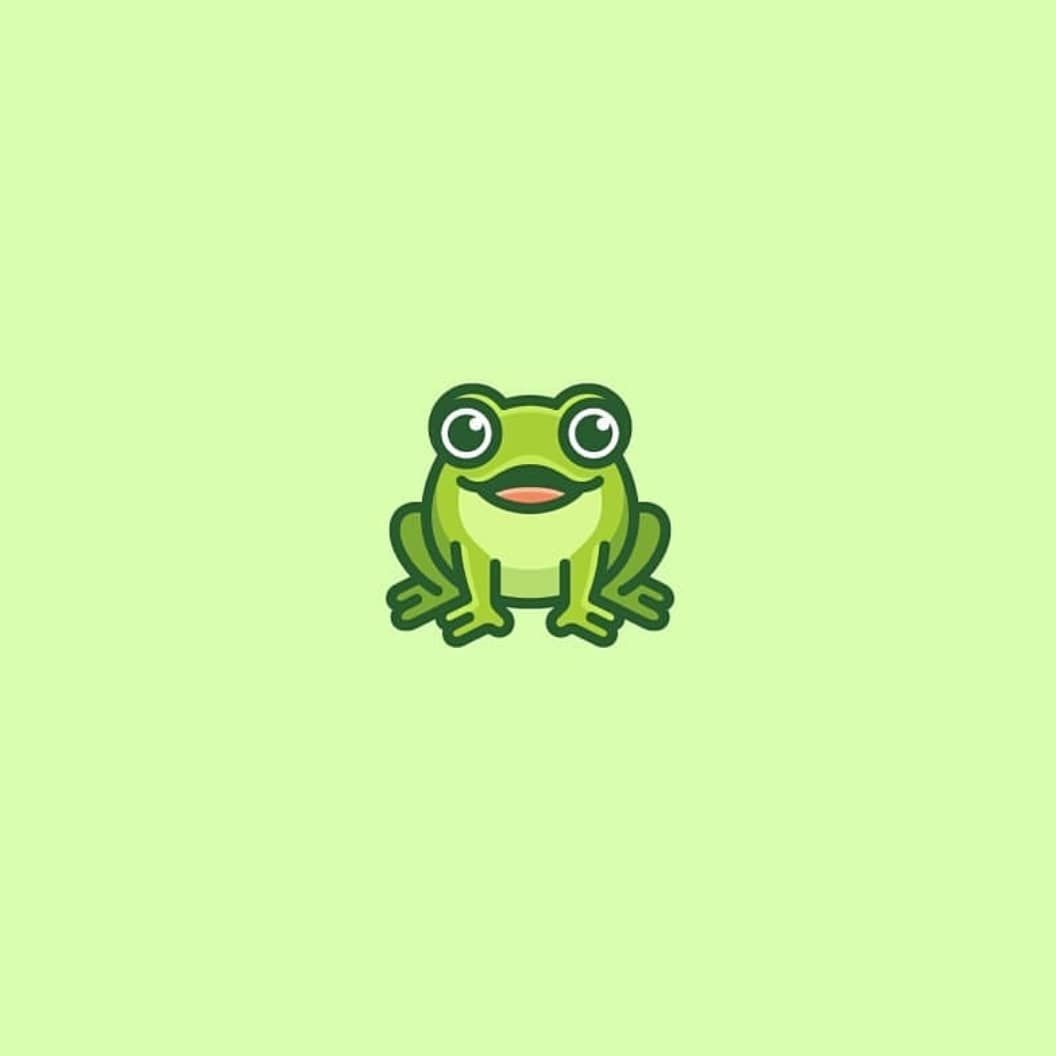 Frog design by @vaneltia_design Follow us @logoplace and.