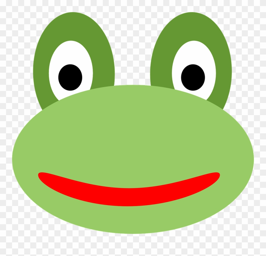 Cartoon Frog With Blue Eyes In M.