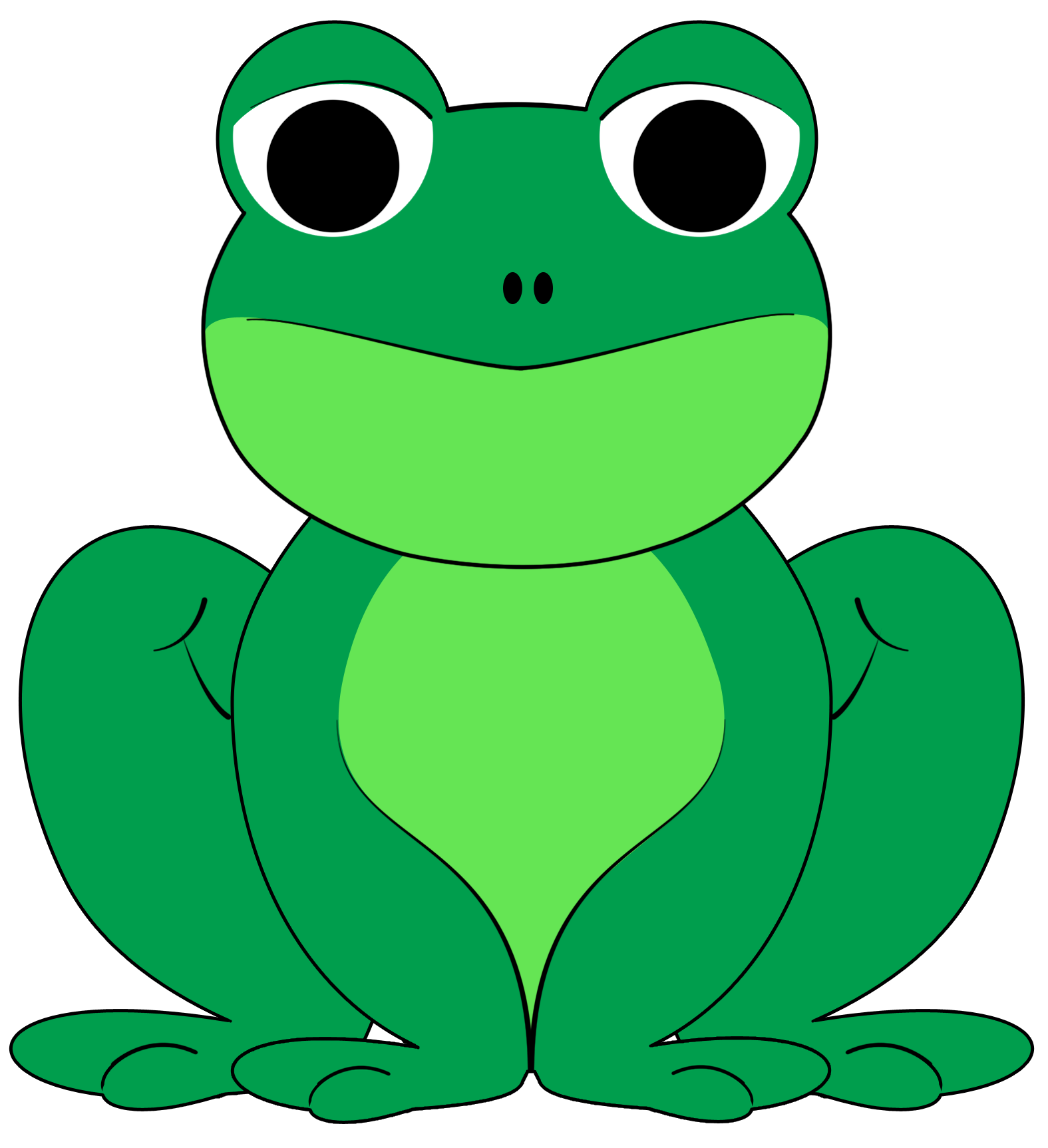 Image of Cute Frog Clipart #7848, Cartoon Frog Face Clip Art.