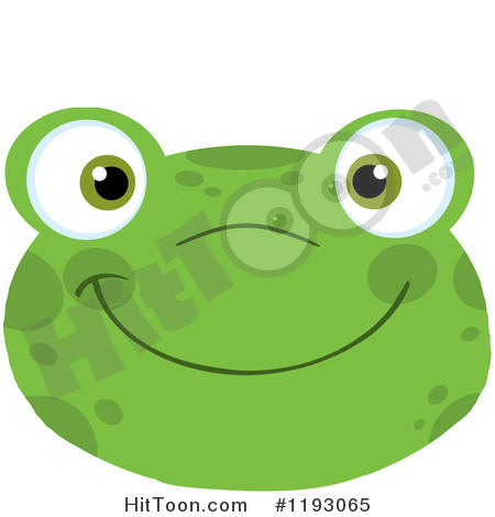 Frog face clipart.