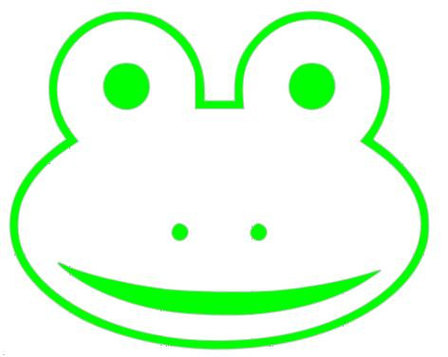 Clipart frog face.