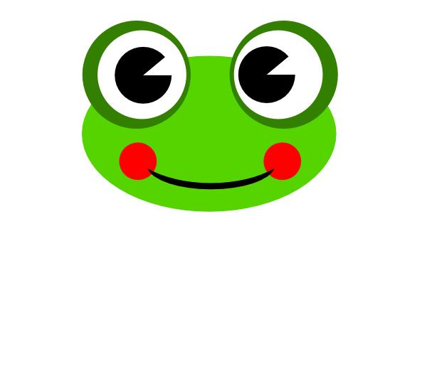 Frog Head Clip Art at Clker.com.