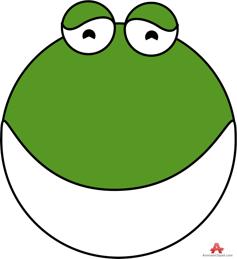 Frog Head Logo Clipart.