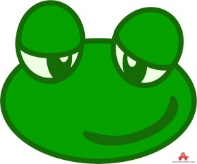Frog Eyes Clipart.