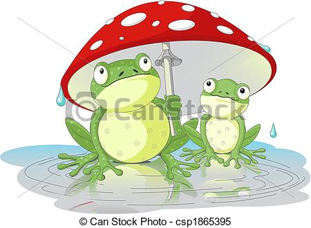 Clipart Vector of Frogs.