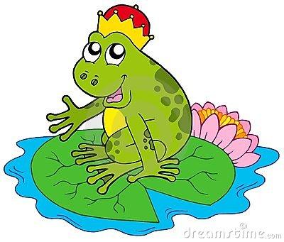 Vector Frog In Water Stock Photos.