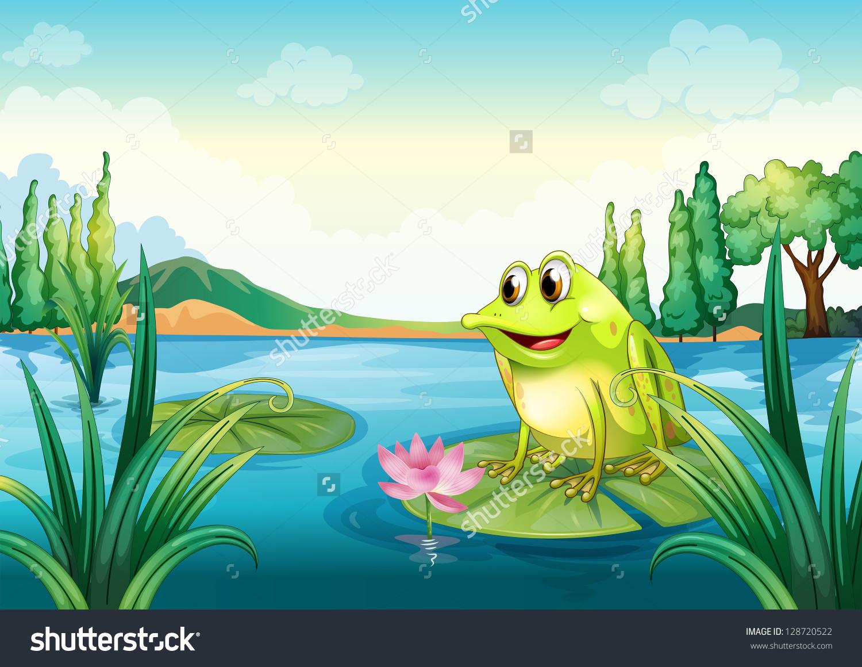Illustration Frog River Stock Vector 128720522.
