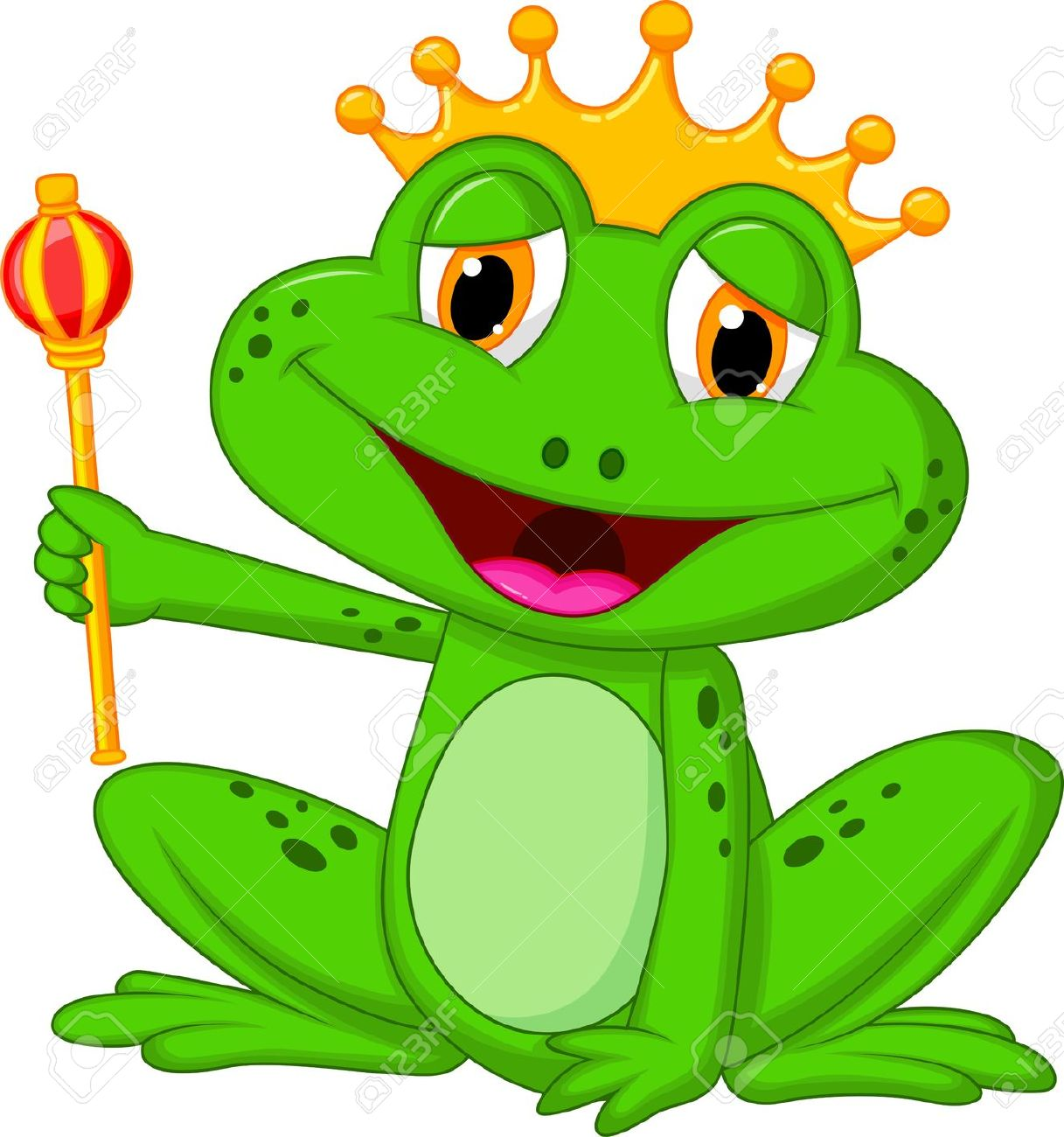 Frog king clipart.