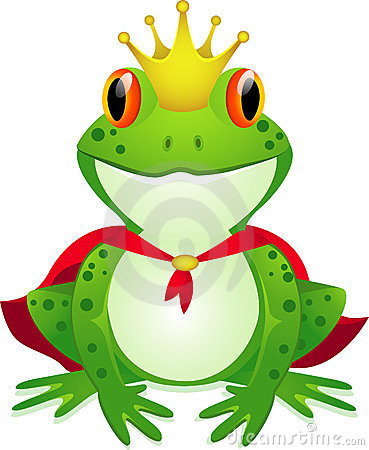 Frog King Royalty Free Stock Photo.