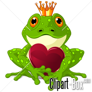 CLIPART VALENTINE KING FROG.