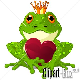 CLIPART VALENTINE KING FROG.
