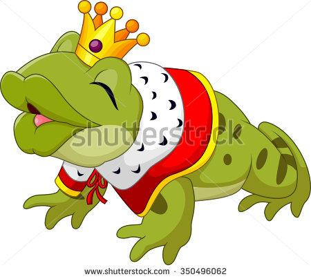 Frog King Stock Photos, Royalty.