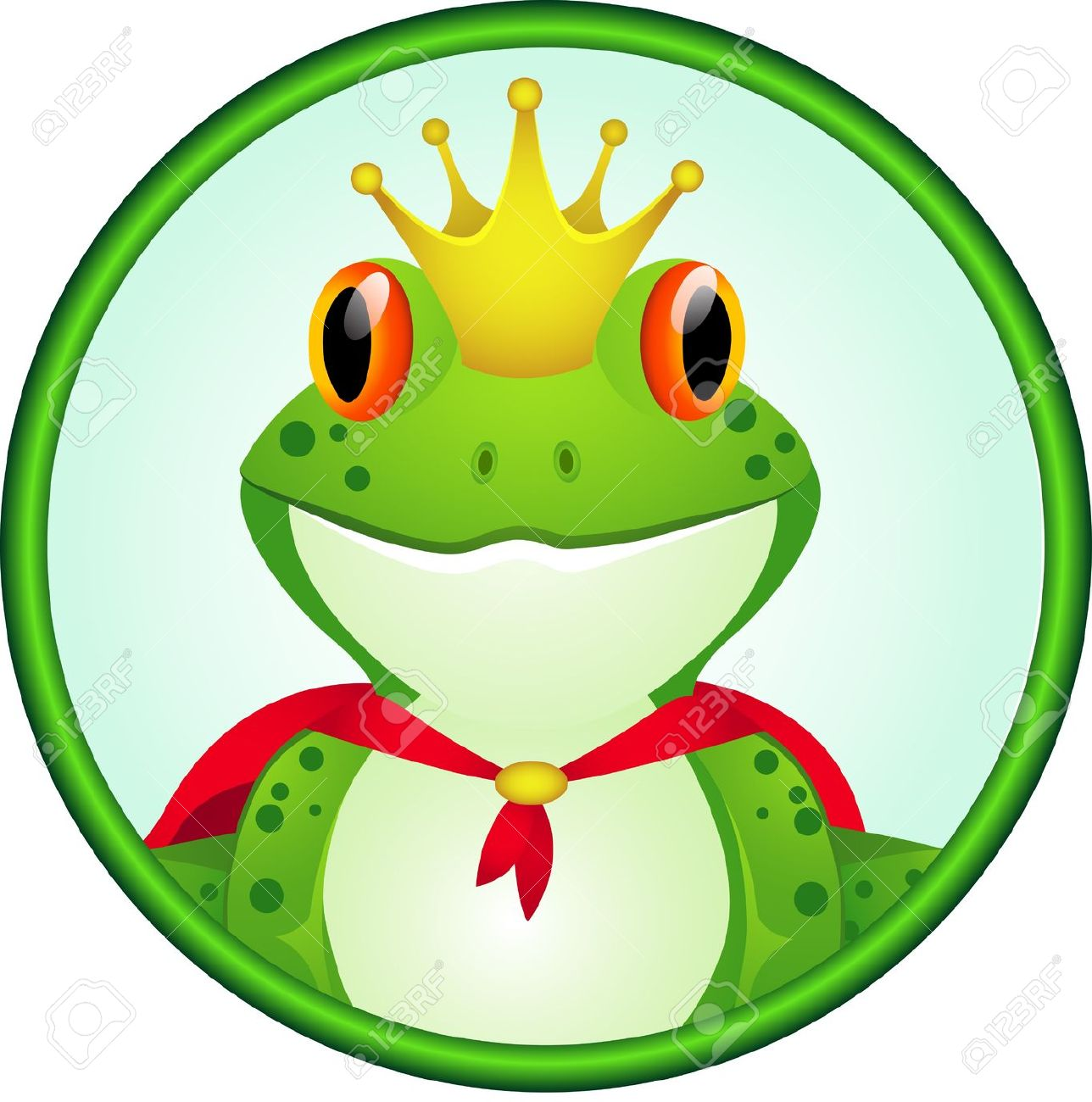 King Of Frog Cartoon Royalty Free Cliparts, Vectors, And Stock.