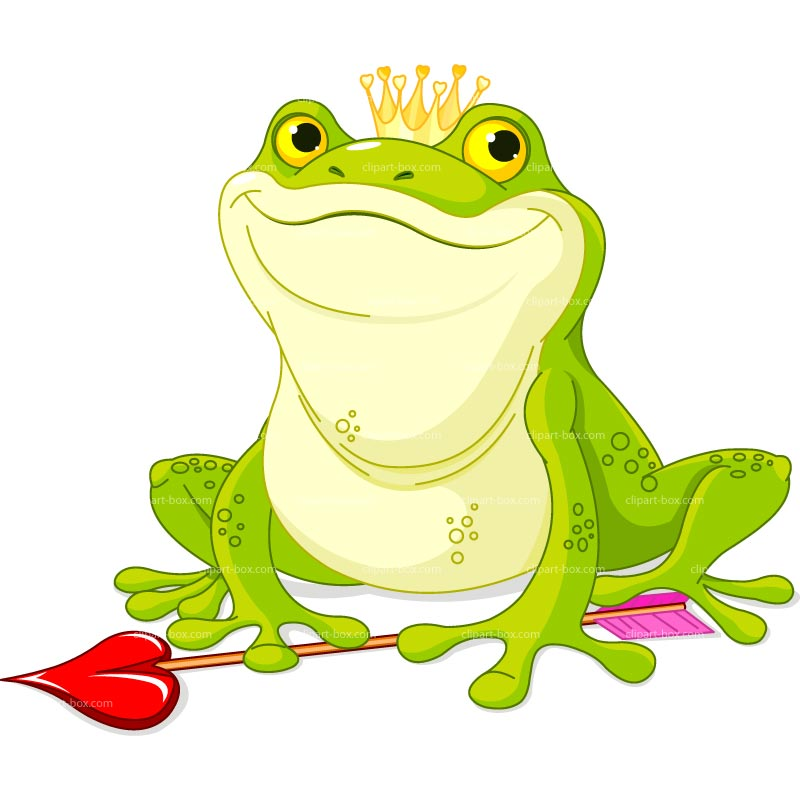 CLIPART KING FROG.