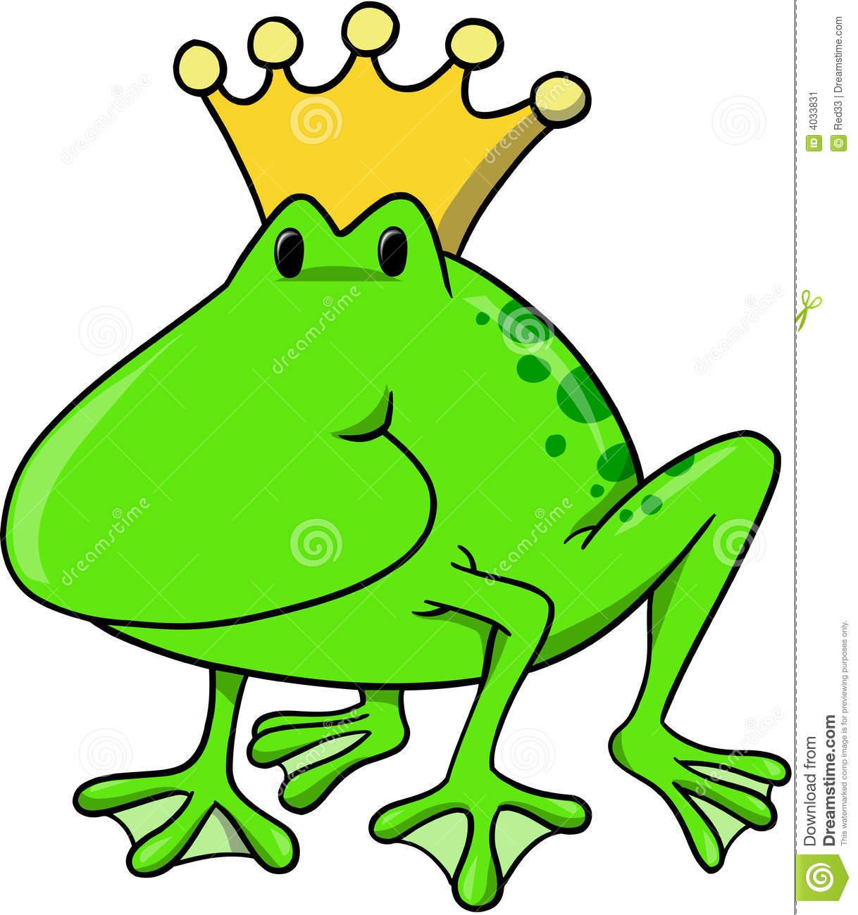 Frog King Vector Illustration Stock Image.