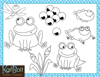 Frog Life Cycle and Pond Free Clip.