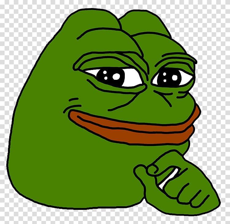 Green frog meme illustration, Pepe the Frog Internet meme.