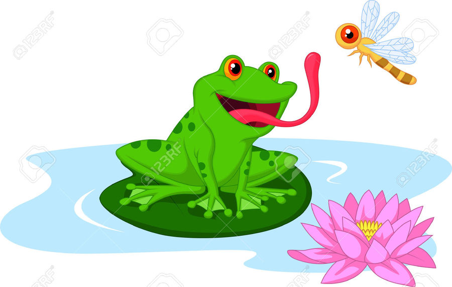Download cartoon frog on lily pad clipart Frog Clip art.