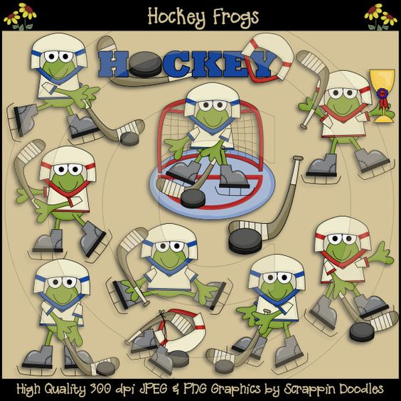 Hockey Frogs Clip Art Download.