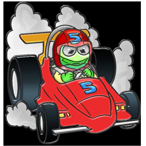 Frog racer Clip Art.