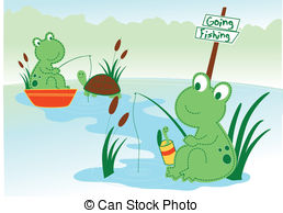 The frog pond clipart #9