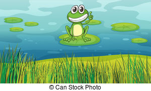 The frog pond clipart #8