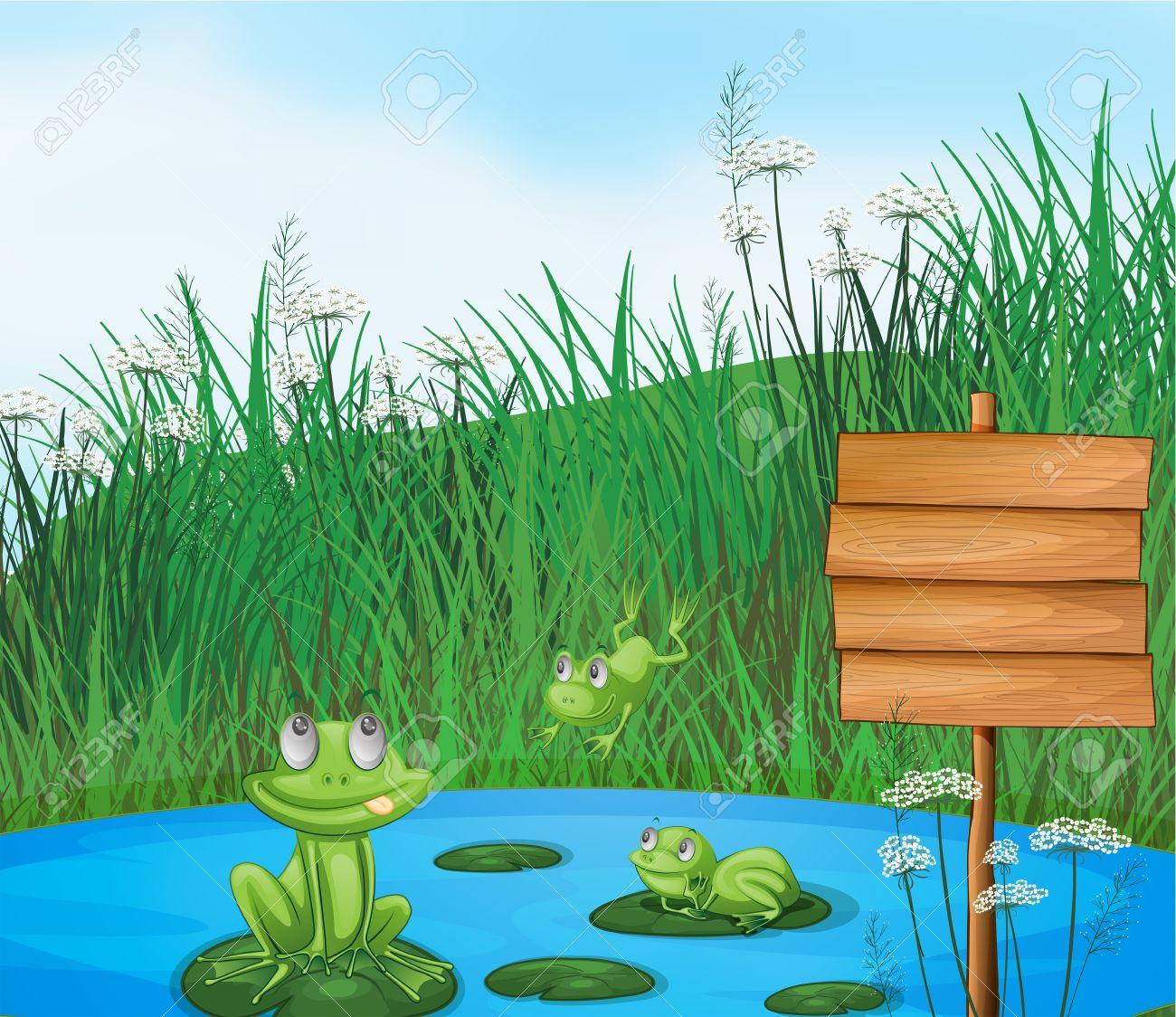 Frog Pond Clipart.