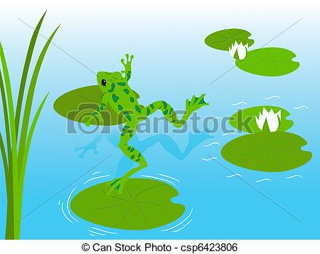 Frog pond Clipart Vector and Illustration. 571 Frog pond clip art.