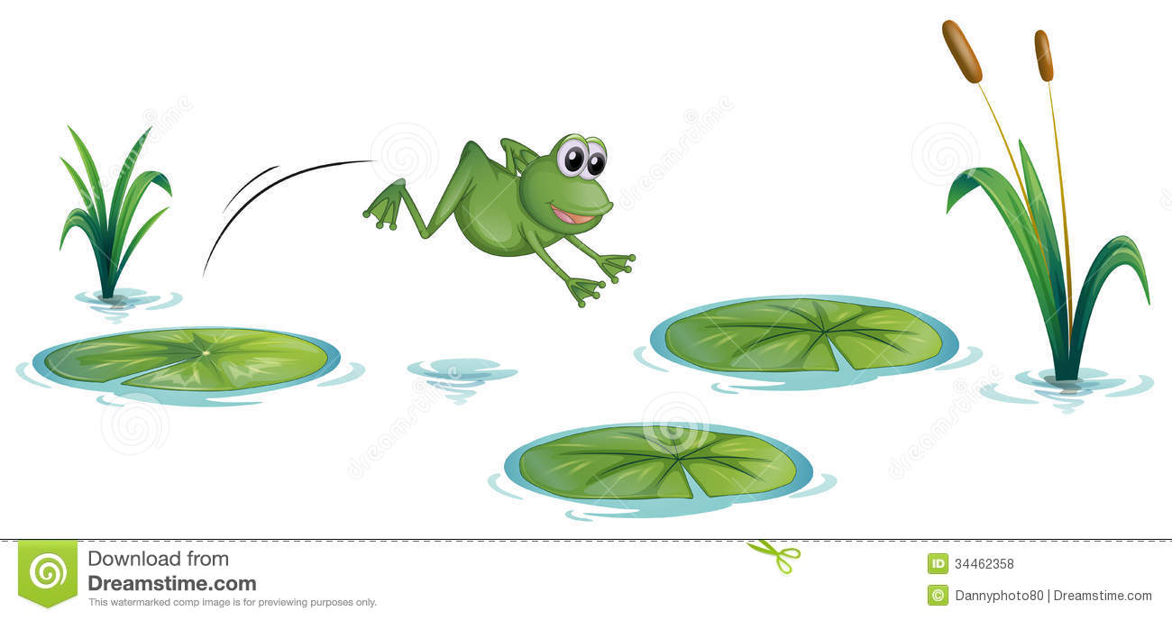 Frog pond clipart.