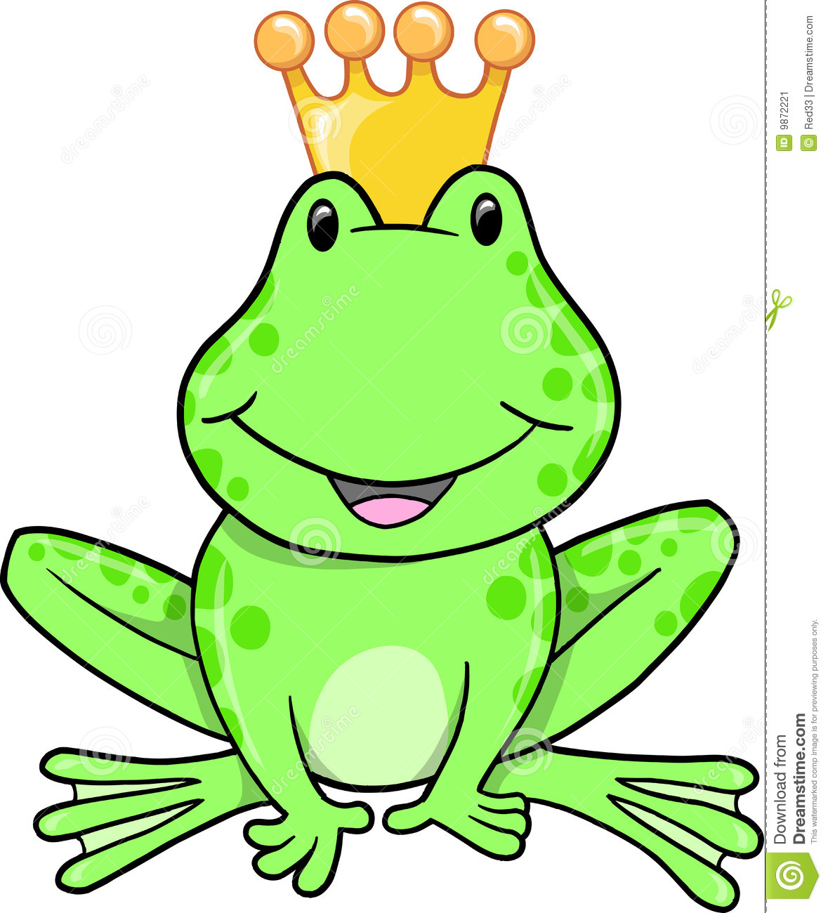 Cute Frog Prince Clipart.