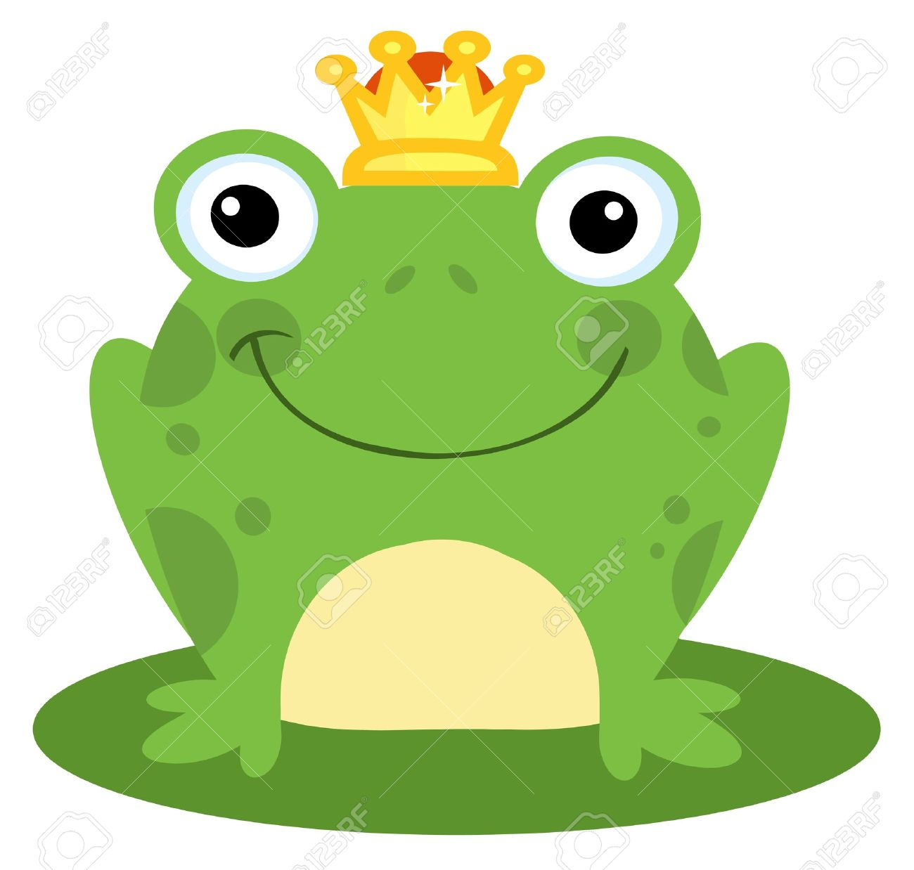 Free Clipart Frog Prince.