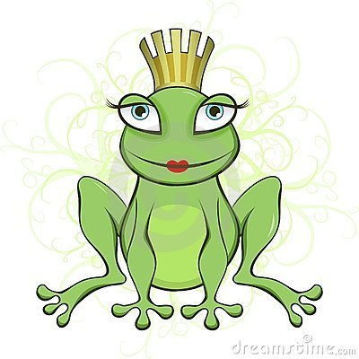 A Frog Queen And Guitarist Royalty Free Stock Photo.