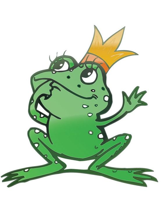 Cartoon Frog Prince vector material.