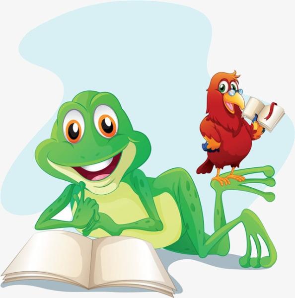 Cartoon Frog Reading, Frog Clipart, Read #74982.