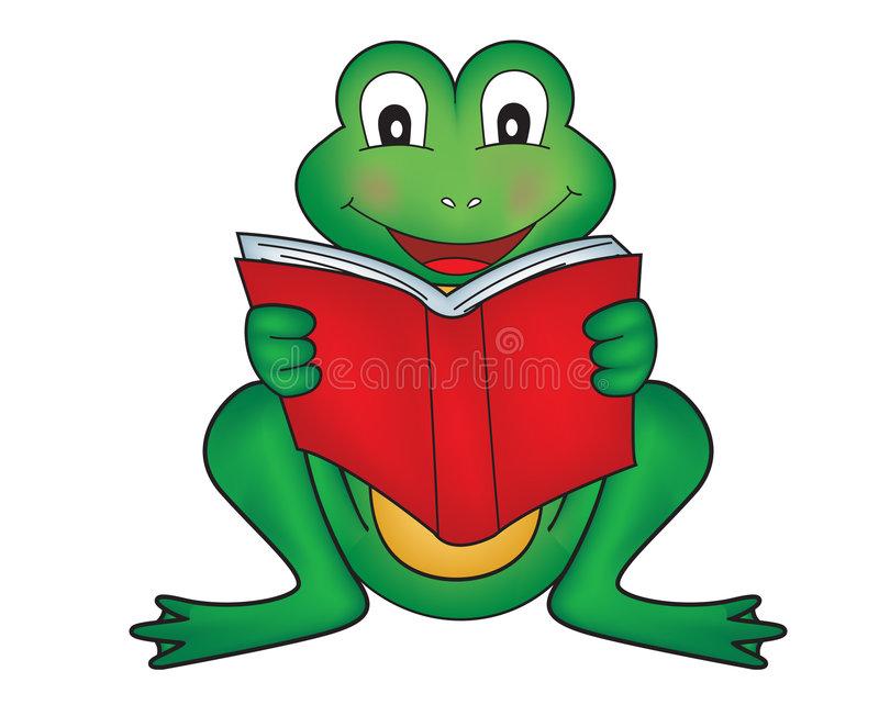 Frog Reading Stock Illustrations.