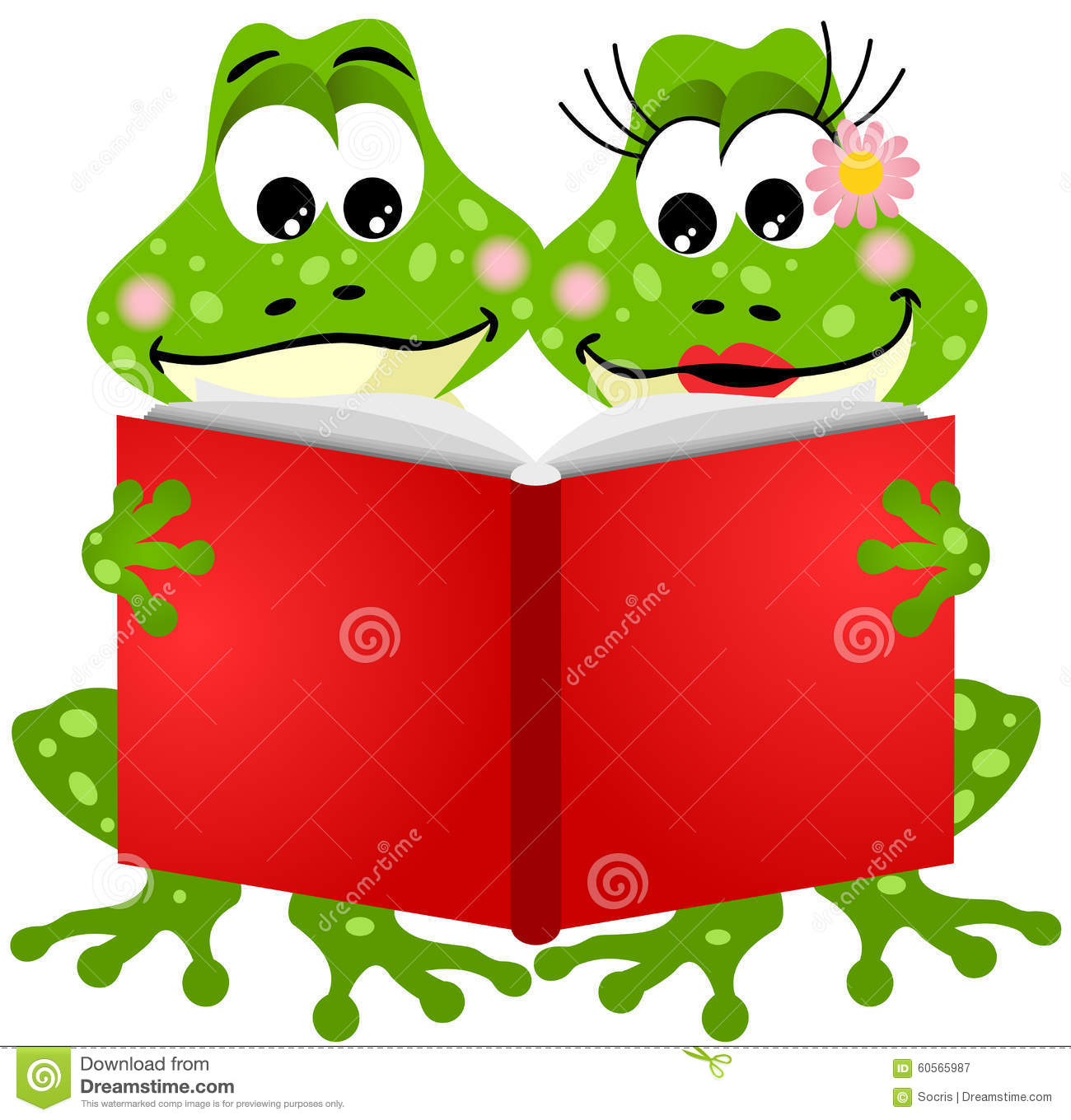 Reading Frog Clipart & Free Clip Art Images #2663.