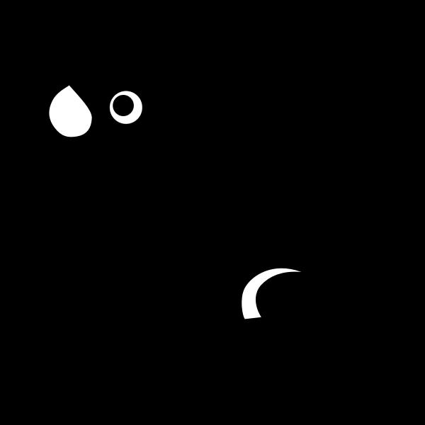Frog silhouette vector clip art.