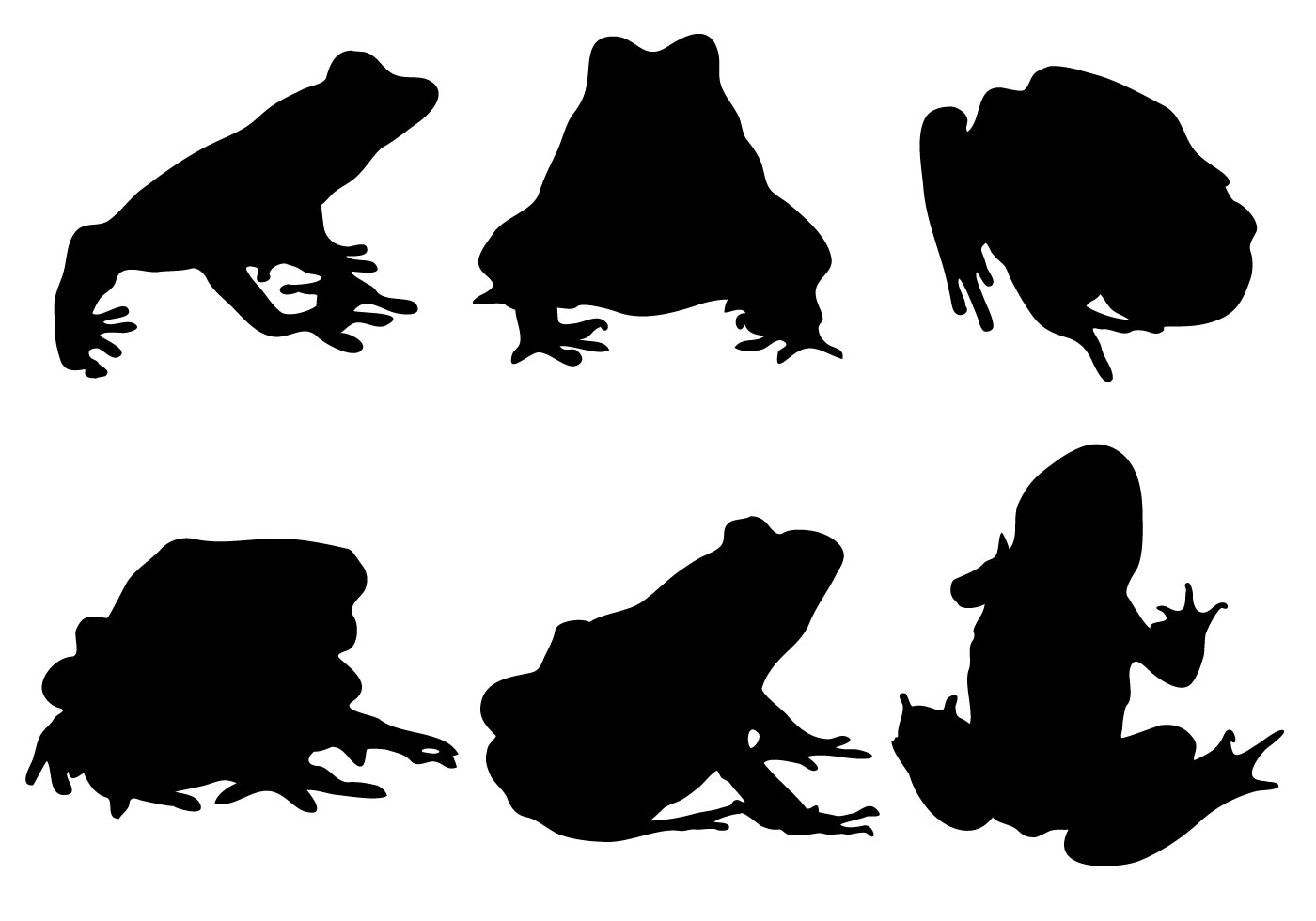 Frog Silhouette Free Vector Art.