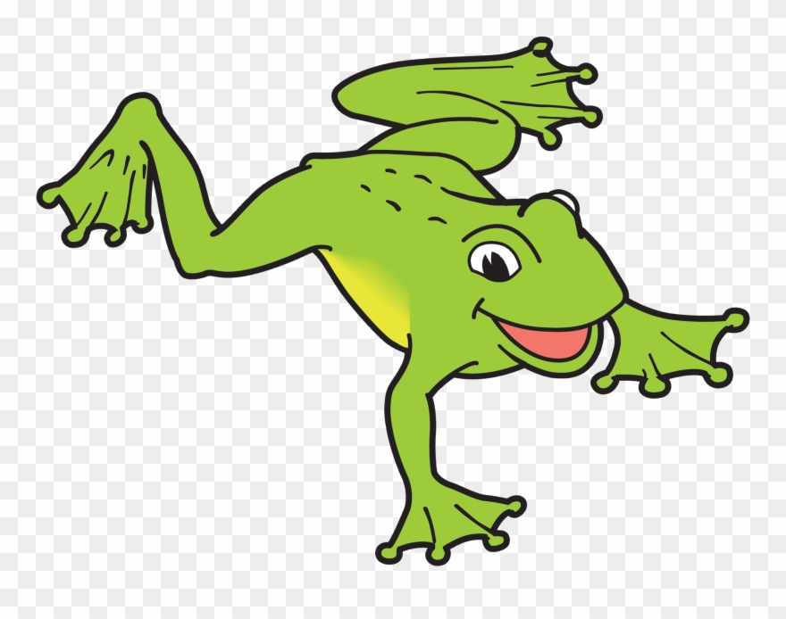 Frog Swimming Clipart.